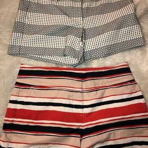 2 pair like new Ann Taylor shorts flawless size 8